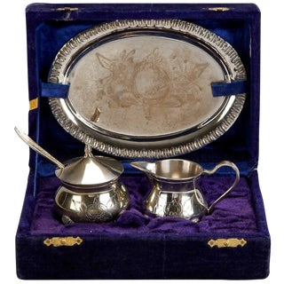 Circa 1920 Silver Plate Tea Set - Set of 3 For Sale