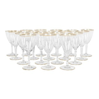 Vintage Baccarat Wine / Water Glassware - Service for 18 People For Sale