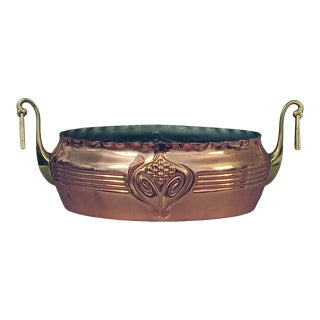German Copper and Brass Planter For Sale
