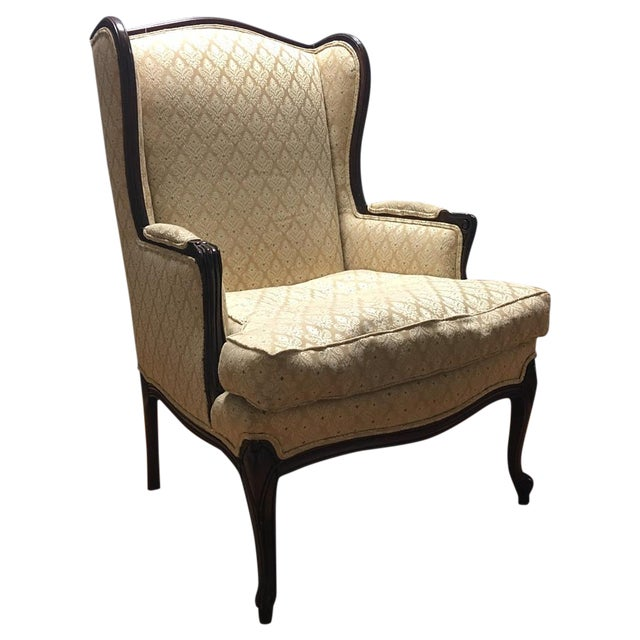Vintage French Style Wingback Armchair - Image 1 of 6