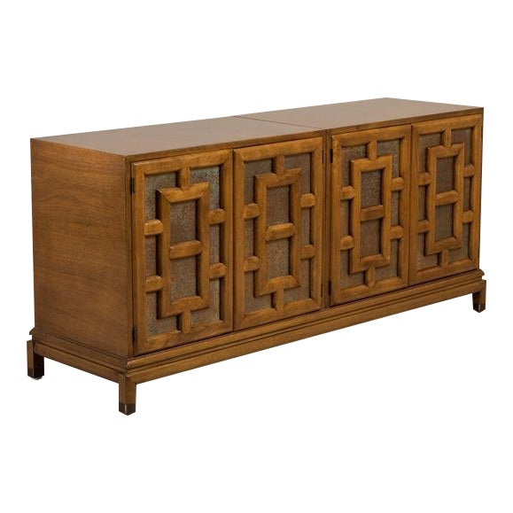 Asian Modern Four-Door Cabinet by Renzo Rutili, 1960s For Sale