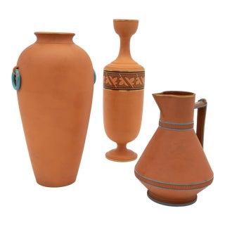 Antique Etruscan-Style Decorative Vases- Set of 3 For Sale