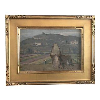Winter in Tuscany Painting by Eliot Clark 1929 For Sale
