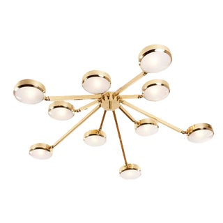 Oculus Articulating Ceiling Light-Murano Glass Version For Sale