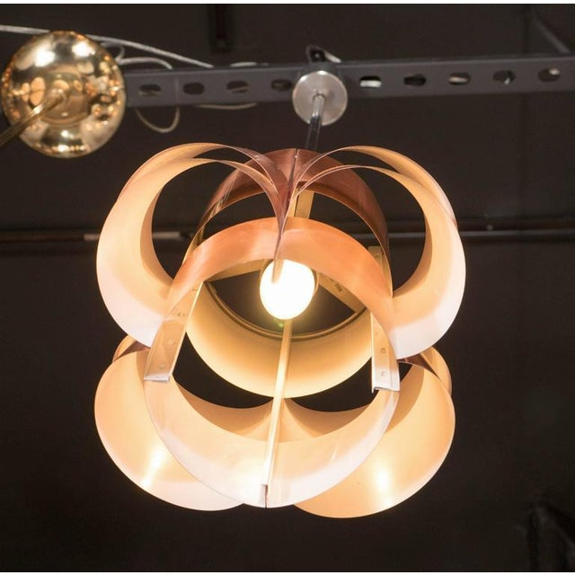 Metal Stunning Segmented Sculptural Pendant Lamp in Copper by Hans-Agne Jakobsson For Sale - Image 7 of 8