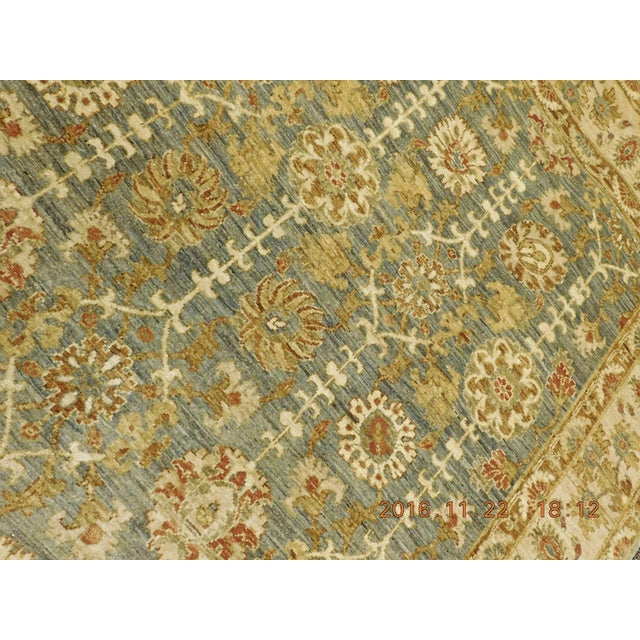Hand Knotted Green and Yellow Afghan Rug - 6'x 9' For Sale - Image 9 of 10