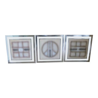 70's Triptych Serigraph Op Art Signed Prints