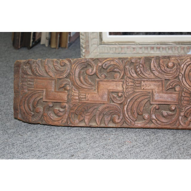 Late 19th Century Late 20th Century Indonesian Carved Panel For Sale - Image 5 of 7