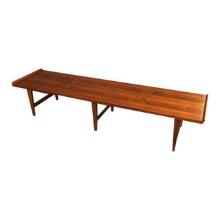 1960s Mid-Century Modern Lane Furniture Walnut Coffee Table