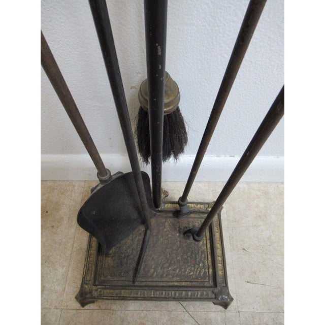 Antique Art & Crafts Iron Fireplace Tools - Image 6 of 11
