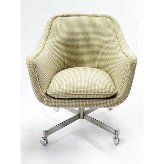 Ward Bennett for Brickel Associates,Bumper Office Desk Armchair on Casters. For Sale - Image 11 of 12