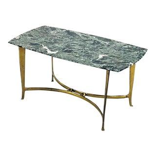 Osvaldo Borsani Coffee Table by Osvaldo Borsani of 1950 in Marble and Brass For Sale