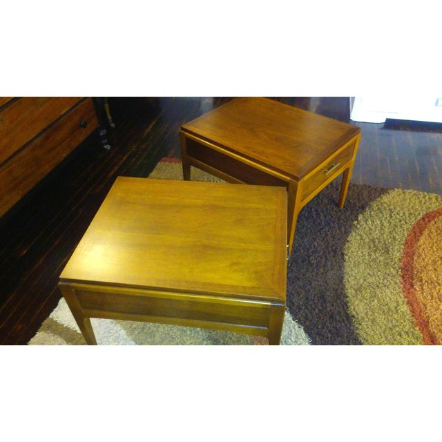 Lane Mid-Century Single Drawer End Tables - A Pair - Image 6 of 10
