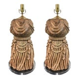Image of 1960s Italian Tassel & Lucite Lamps - A Pair For Sale