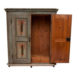Painted Pine Armoire For Sale