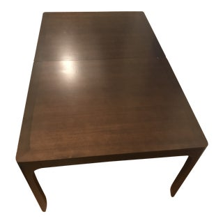 """Barbara Barry for Henredon """"Realized"""" Perfect Parsons Dining Table With 2 Leaf Extensions For Sale"""