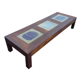 Moroccan Rectangular Wooden Coffee Table For Sale