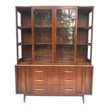 Image of Mid-Century Modern Sideboard With Hutch Top For Sale