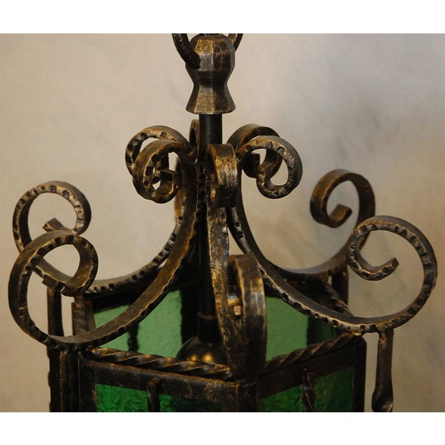 Wrought Iron Lanterns - A Pair For Sale - Image 5 of 10