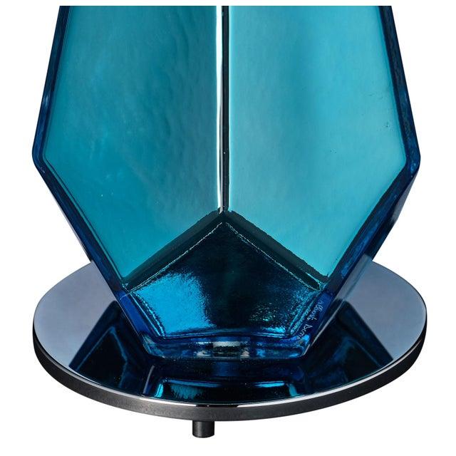 """Blue """"Specchiate"""" Murano Glass Lamps For Sale - Image 9 of 10"""