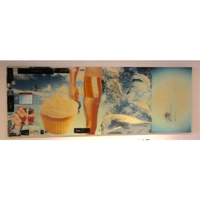 Spectacular Epoxy Resin Collage by the Noted American/English Artist Alex Echo For Sale - Image 11 of 11