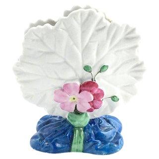 Floral Leaf Porcelain Menu Holder For Sale