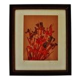 Image of Vintage Framed Robert Jones Floral Print - Artist Proof For Sale
