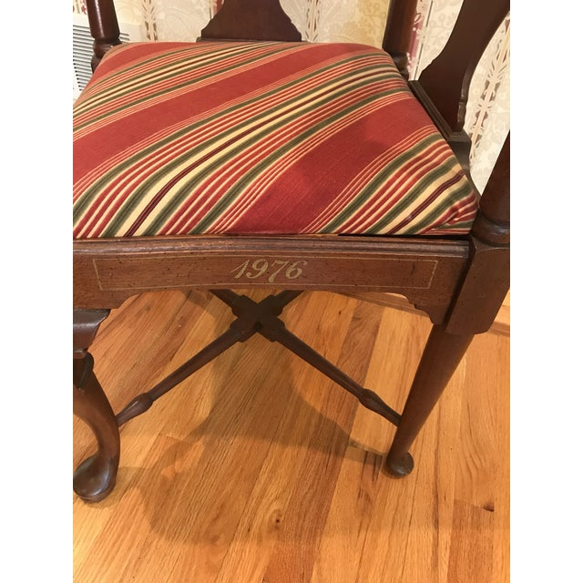 Cotton Vintage Mahogany Corner Chair 1776 For Sale - Image 7 of 9