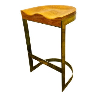 70's Studio Craft Bar Stool by Warren Bacon Mid Century For Sale