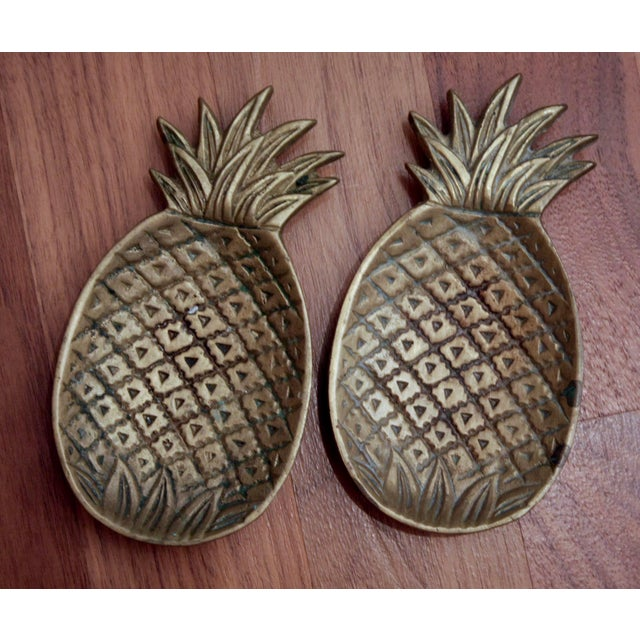 Brass Pineapple Catchalls, a Pair For Sale - Image 4 of 6