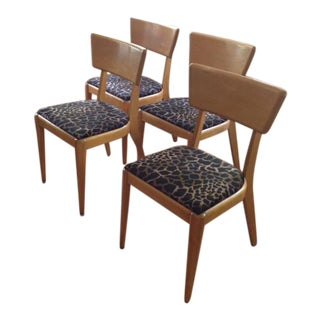 "Heywood-Wakefield M551 Dining Chairs ""Wheat"" Finish - Set of 4"