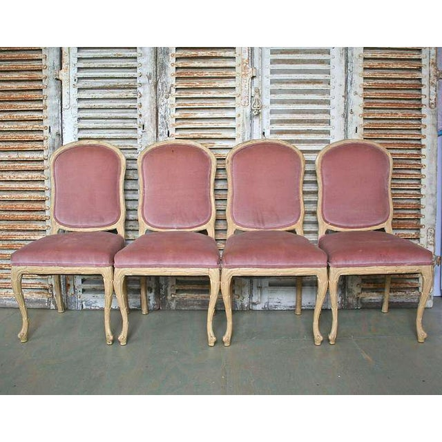 Hollywood Regency 1960s Hollywood Regency Hand-Carved Dining Chairs - Set of 6 For Sale - Image 3 of 11