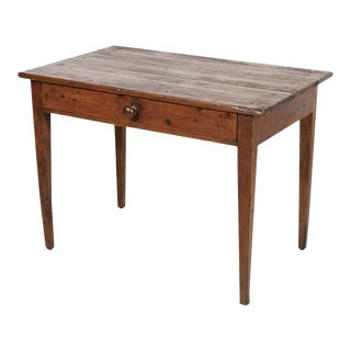 Early 19th Century Primitive French Country Side Table or Work Table For Sale