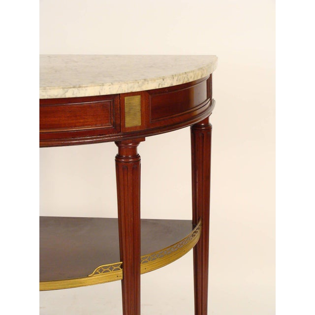 Louis XVI Style Console Table For Sale In Los Angeles - Image 6 of 11