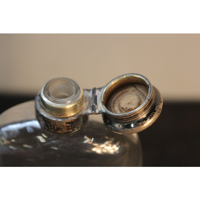 Antique Sterling Silver and Glass Pint Flask - Image 5 of 7