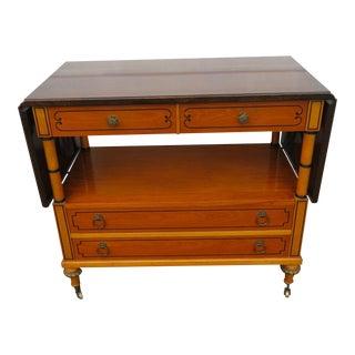 Mid Century Modern Rosewood Top Inlay Bar Cabinet Buffet by Daniel Jones For Sale