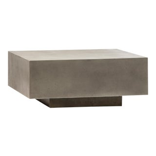 Concrete Block Outdoor Coffee Table For Sale