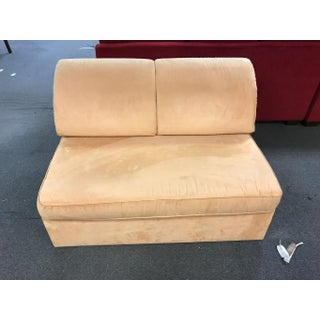 Mustard Suede Loveseat Pull Out Sleeper Preview