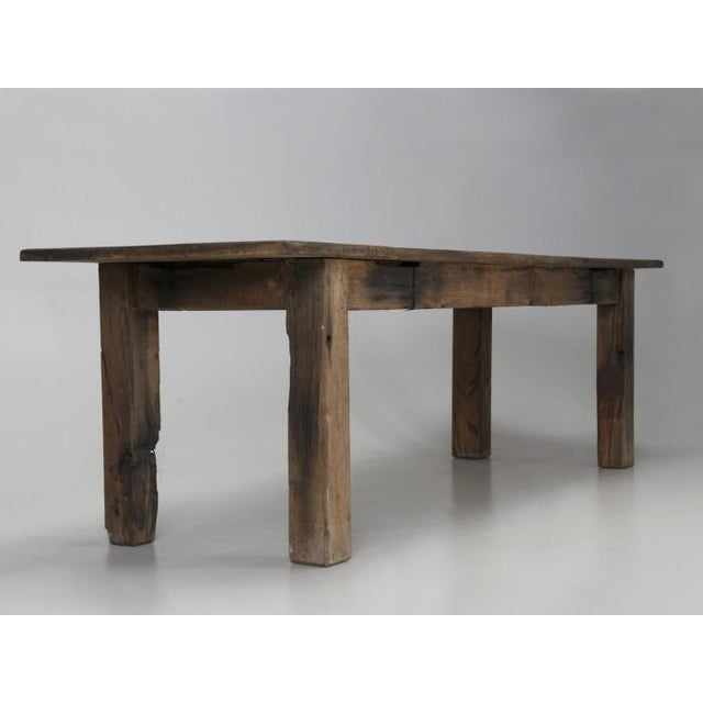 Antique French Rustic Industrial Work Table For Sale In Chicago - Image 6 of 11