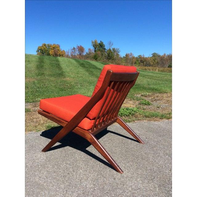 Folke Ohlsson for Dux Teak Scissor Chairs - A Pair For Sale - Image 7 of 9