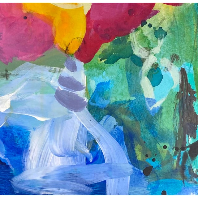 """Contemporary """"And Then They're Gone"""" Contemporary Abstract Mixed-Media Painting by Gina Cochran For Sale - Image 3 of 4"""