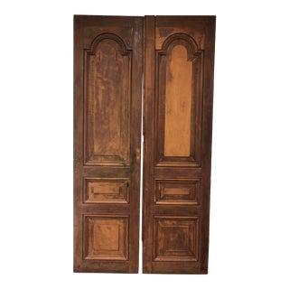 Country Mahogany Doors From La Casa Zaldiva, Pacheco in El Salvador - a Pair