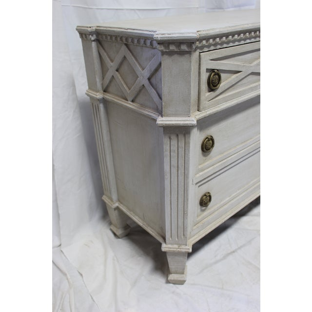 20th Century Gustavian Gray Oak Dresser For Sale - Image 4 of 6
