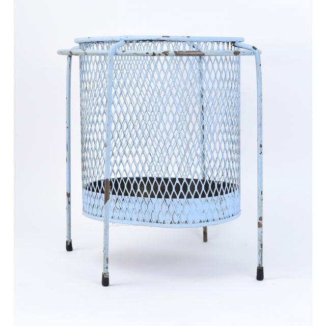 Mid-Century Modern Circa 1953 Maurice Duchin Iron Mesh Mid-Century Modernist Waste Basket For Sale - Image 3 of 6