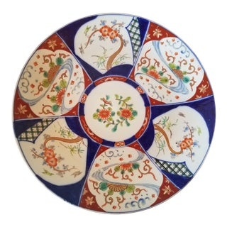 Antique 1880 Imari Porcelain Platter For Sale