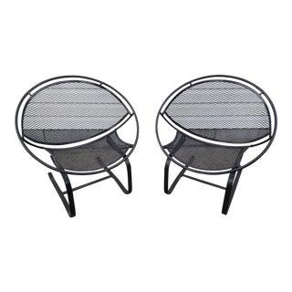 1960s Mid Century Salterini Radar Patio Hoop Chairs - a Pair For Sale