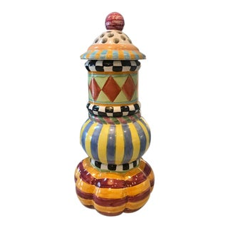 Mackenzie Childs Whimsical Multi Cache Pot Set For Sale