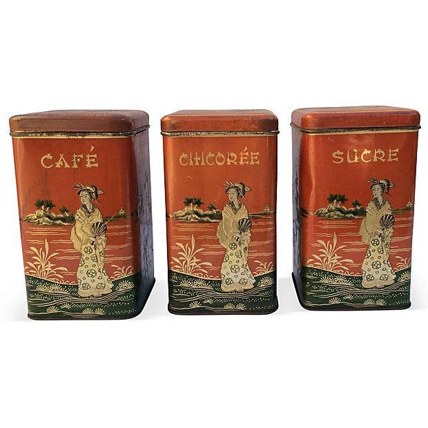 Chinoserie Coffee Canisters - S/3 - Image 4 of 4