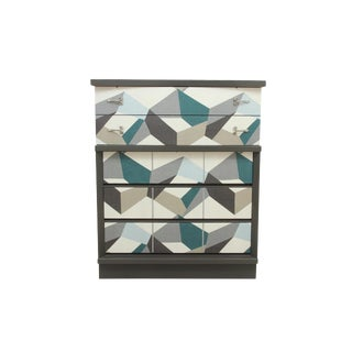 Scandinavian Style Geometric Dresser For Sale