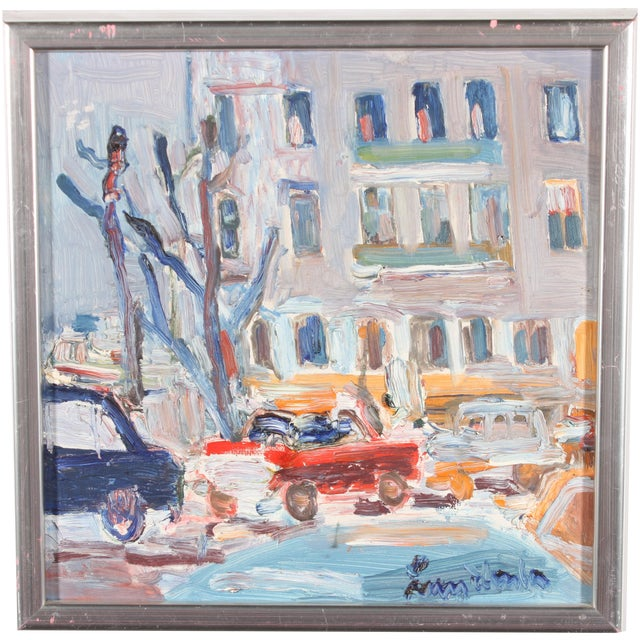 Downtown Original Oil Painting - Image 1 of 3